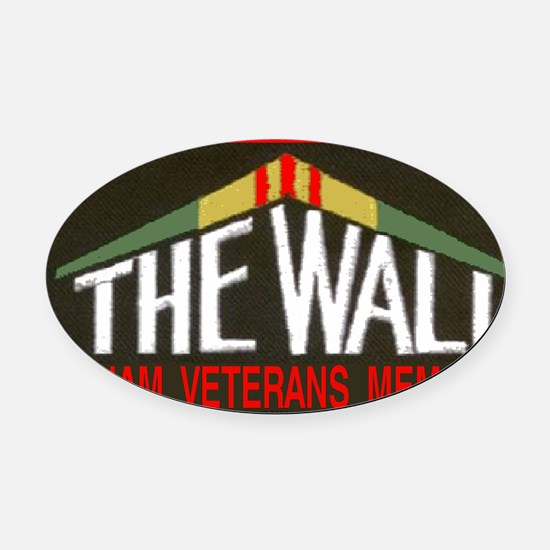 THE WALLPATCH Oval Car Magnet