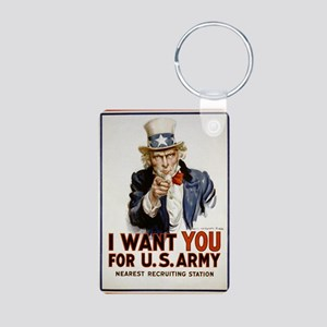 WWIIuncleSam Aluminum Photo Keychain
