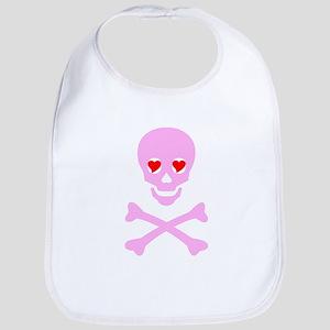 Pink Skull & Crossbones Bib