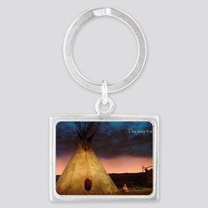 teepee Landscape Keychain