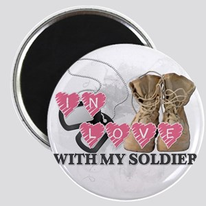 In love Soldier Magnet