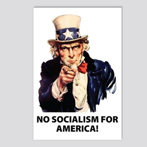 no_socialism Postcards (Package of 8)
