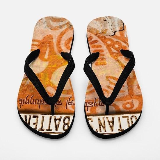 sultans-battery-tshirt Flip Flops
