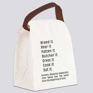2-Breed It Canvas Lunch Bag