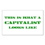 Capitalist Rectangle Sticker