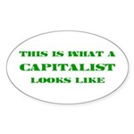 Capitalist Oval Sticker