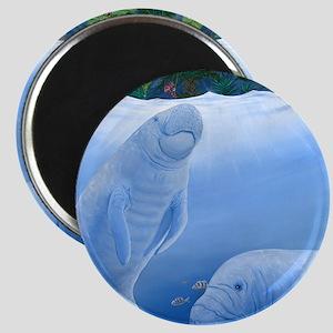 MANATEES scuare Magnet