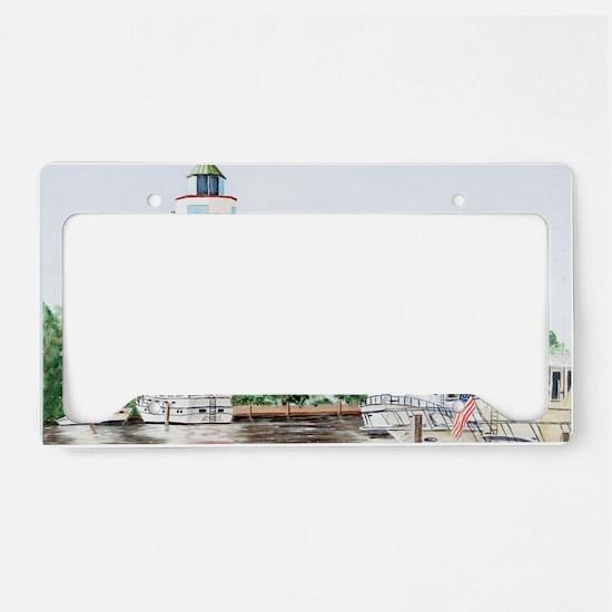 harbor town light long License Plate Holder