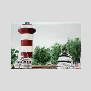 harbor town light long Rectangle Magnet