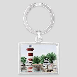 harbor town light Landscape Keychain