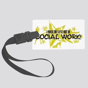 SOCIAL WORK Large Luggage Tag
