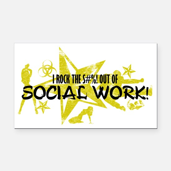 SOCIAL WORK Rectangle Car Magnet