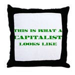 Capitalist Throw Pillow