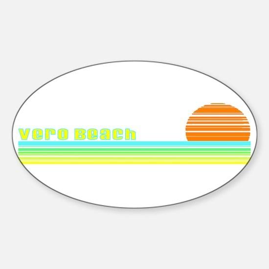 Vero Beach, Florida Oval Decal