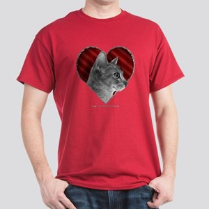 Abyssinian Cat Heart Dark T-Shirt