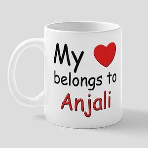 My heart belongs to anjali Mug