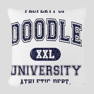 Doodle-University Woven Throw Pillow