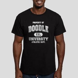 Doodle-University-dark Men's Fitted T-Shirt (dark)