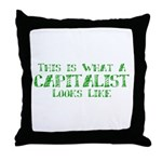 Capitalist Throw Pillow