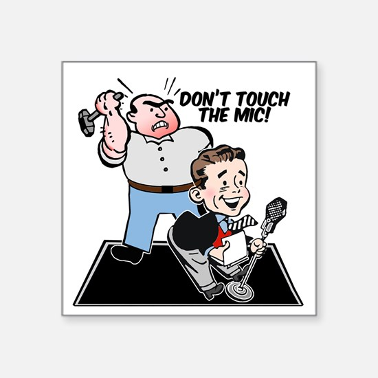 """dont-touch Square Sticker 3"""" x 3"""""""