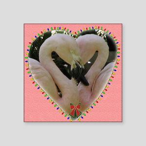"flamingoes Square Sticker 3"" x 3"""