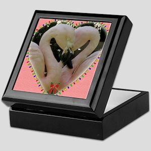 flamingoes Keepsake Box