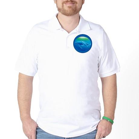 whales circle Golf Shirt