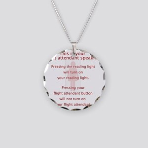 FAbutton Necklace Circle Charm