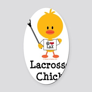 LacrosseChick Oval Car Magnet