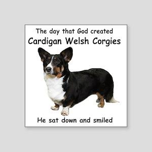 "God-Cardigan Dark Shirt Square Sticker 3"" x 3"""