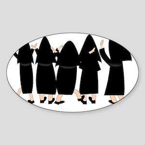 Five Nuns Sticker (Oval)