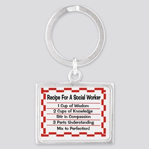 Recipe for a Social Worker Landscape Keychain