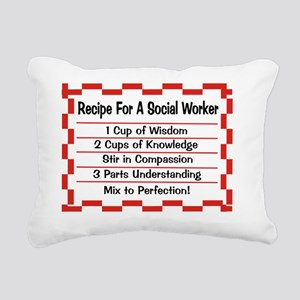 Recipe for a Social Work Rectangular Canvas Pillow