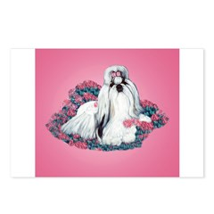 Shih Tzu and Flowers Postcards (Package of 8)
