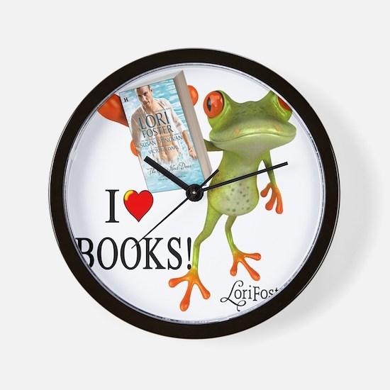 shirt - frog GUY NEXT DOOR Wall Clock