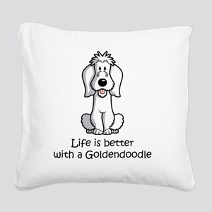 SS_Life-is-Better-with-a-Gold Square Canvas Pillow