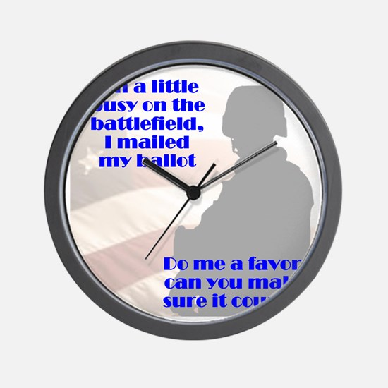soldier-vote-counts Wall Clock