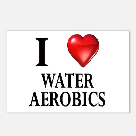 Love Water Aerobics Postcards (Package of 8)