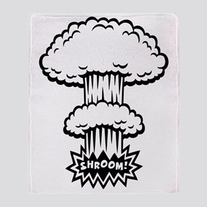 mush-cloud1-BW-T Throw Blanket
