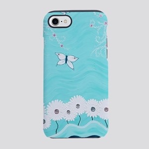 Aqua Floral iPhone 7 Tough Case