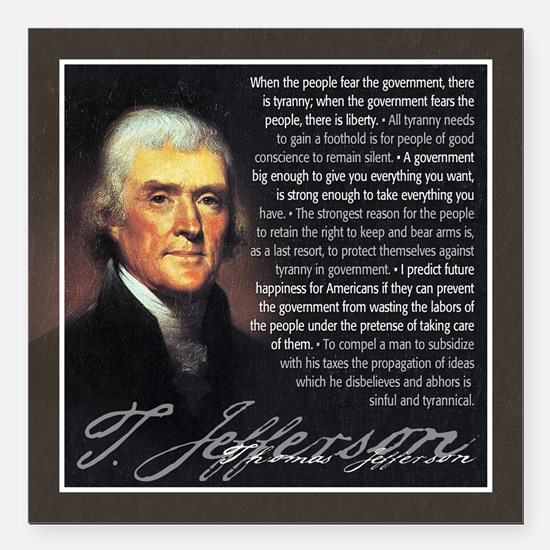 "TJ Quotations Square Car Magnet 3"" x 3"""
