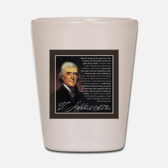 TJ Quotations Shot Glass