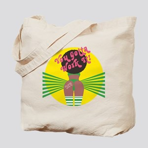 2-W_Work it out_Retro Tote Bag