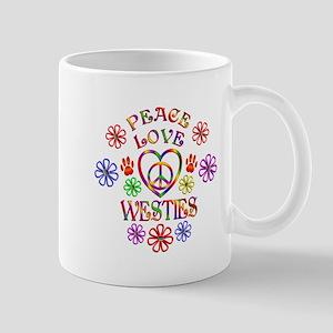 Peace Love Westies Mugs