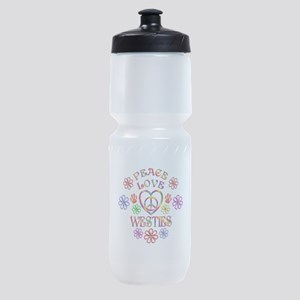 Peace Love Westies Sports Bottle