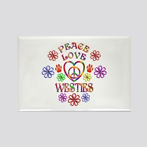 Peace Love Westies Magnets