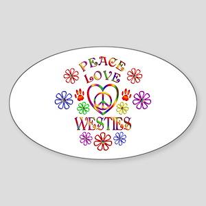 Peace Love Westies Sticker