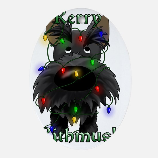 ScottieLightsInside2x Oval Ornament