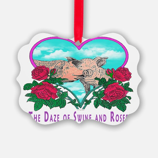 SWINE AND ROSES T  2 calendar Ornament