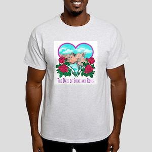 SWINE AND ROSES T  2 Lg Light T-Shirt